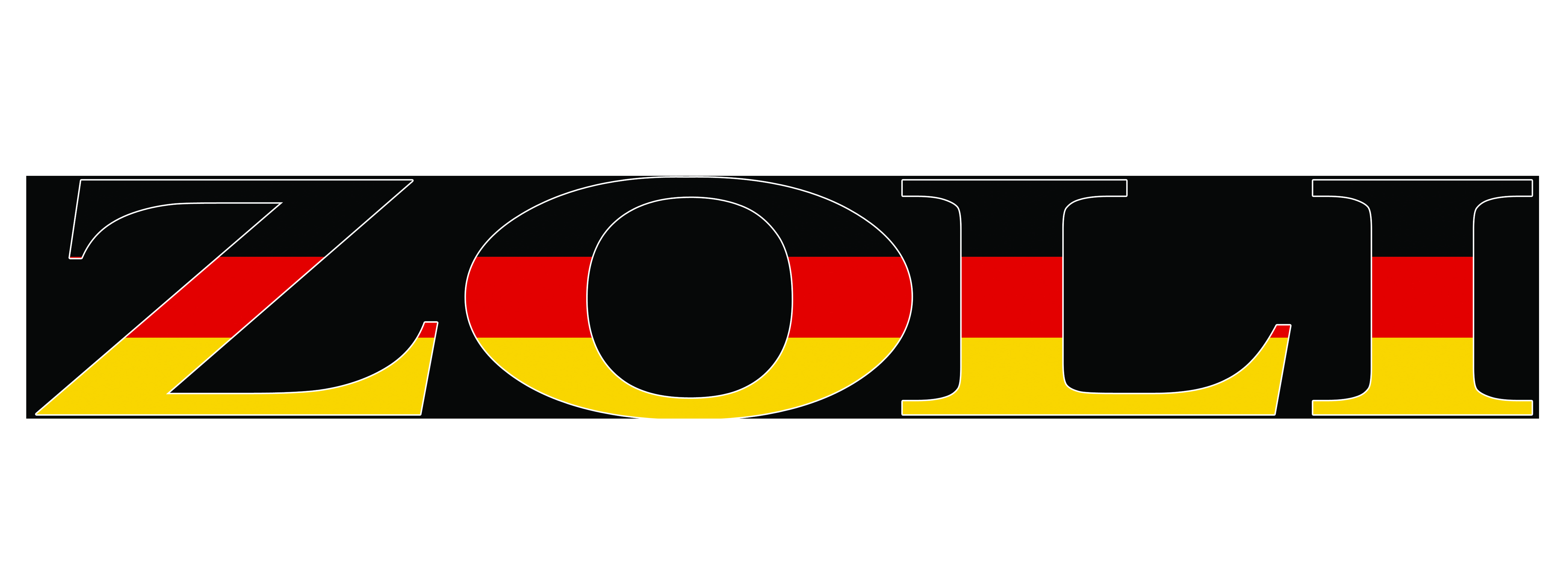 Zoli barrel sticker with german flag